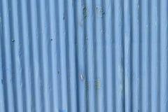 Texture of metallic blue colored iron sheet. In horizontal frame Stock Image