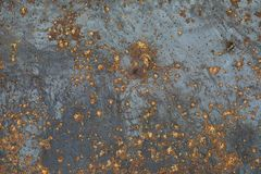 The texture is metallic. Industrial background from an old rusty. Metal. Textured metal background with rust cracks.r royalty free stock image