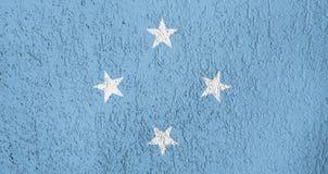 Texture of Micronesia flag. Royalty Free Stock Photos