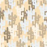 Texture militaire de cactus Armée de camouflage Illustration Stock