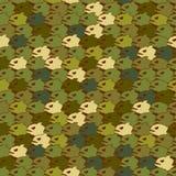 Texture militaire de piranha Poissons sans couture de mal de modèle d'armée Photographie stock libre de droits
