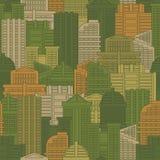 Texture militaire des bâtiments Protecteur vert d'Urban de soldat ou Illustration Stock