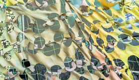 Texture military camouflage nets Royalty Free Stock Photo