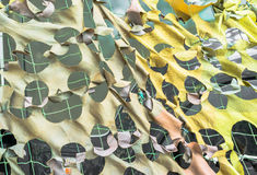 Texture military camouflage nets Stock Photo