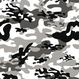 Texture military camouflage repeats seamless army black white hunting vector illustration