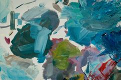 Texture mixed oil paints in different colors royalty free stock images