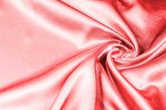 Texture, modèle tissu en soie rouge, fil métallique métallique elle Photo libre de droits