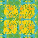 Texture modelée de cadre des boucles Image libre de droits
