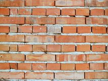 Texture of modern brickwork of baked clay bricks with cement mortar stock photos