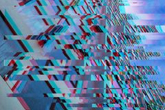 Texture of modern skyscrapers. In trendy Glitch effect stock photography