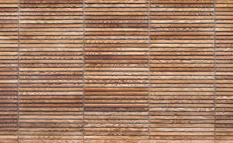 Texture of a modern wooden gate made of slats Royalty Free Stock Images