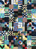 Texture mosaic modern seamless pattern stock illustration