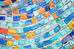 Texture Mosaic Tiles  Colorful Wave Background Royalty Free Stock Photo