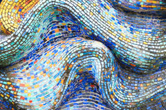 Texture Mosaic Tiles  Colorful Wave Background Stock Photo