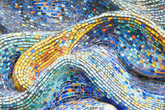 Texture Mosaic Tiles  Colorful Wave Background Royalty Free Stock Photos