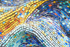 Texture Mosaic Tiles  Colorful Wave Background Stock Image