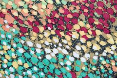 Texture of motley fabric Stock Photography