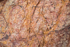 Texture of mountain showing red rock Stock Image