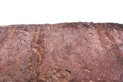 Texture of mountain showing red soil after excavated Stock Photos