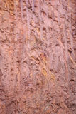 Texture of mountain showing red soil and rock Stock Image