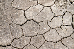 Texture of mud with cracks.  Royalty Free Stock Photos
