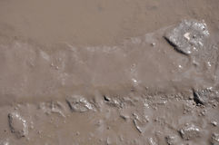 The texture of mud. Puddle. The texture of mud. Wet dirt. Puddle Stock Photography
