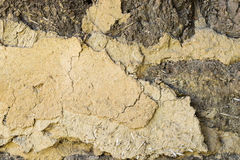 Texture of mud and straw Royalty Free Stock Photography
