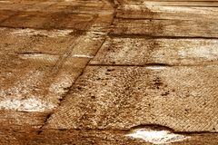 Texture of mud or frozen soil. The texture of the mud or wet soil.Road to build a house Stock Images