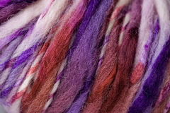Yarn Background. Texture of multi-colored strands of yarn Royalty Free Stock Photography
