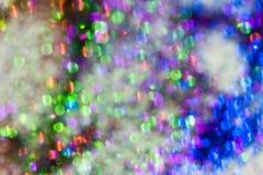 Texture multicolore de la poussière de diamant de tache floue Photographie stock libre de droits