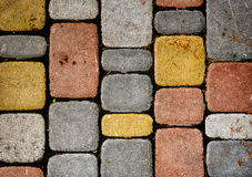Texture of multicolored stone wall Royalty Free Stock Image