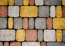 Texture of multicolored stones Stock Photos