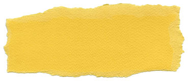 Isolated Fiber Paper Texture - Naples Yellow XXXXL. Texture of Naples yellow fiber paper with torn edges. Isolated on white background Royalty Free Stock Image