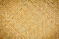 Texture of native Thai style bamboo weave Stock Image