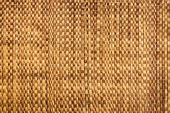 Texture of native thai style weave sedge mat background - made from papyrus Stock Photography