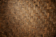 Texture of natural bamboo Weave Stock Images