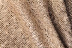 Texture of natural burlap cloth Stock Images