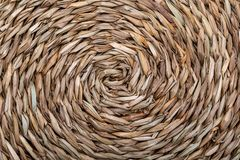 Texture of natural fibers in a circular direction spiral. Color in light tones stock photo