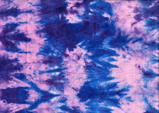 Texture of natural linen fabric . Batik.Textile shibori print. Indigo blue tie-dye textile. Watercolor effect. Texture of natural linen fabric Royalty Free Stock Photography