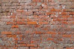 Texture - natural old red brick. Closeup stock photo
