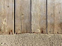 Texture of natural wood and sand Royalty Free Stock Photo