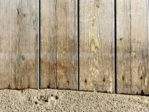 Texture of natural wood and sand Royalty Free Stock Images