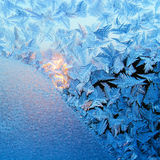 Texture of nature - ice on glass royalty free stock photography