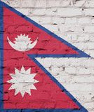 Texture Nepal flag. royalty free stock images