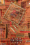 Texture of Nepalese national fabric, background Royalty Free Stock Image