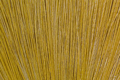 Texture of new clean broom made of synthetic Nylon fiber. Closeup texture of new clean broom made of synthetic Nylon fiber Royalty Free Stock Images
