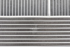 Texture of the new engine cooling radiators Stock Photo