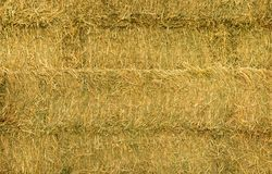 New Zealand Hay Bales. Texture of New Zealand stacked hay Stock Photos
