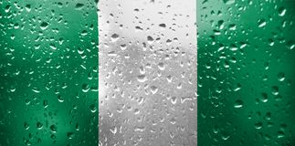 Texture of Nigeria flag royalty free stock images
