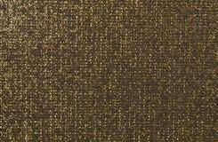 Texture noire d'or de tissu Image libre de droits